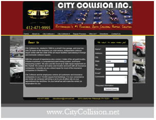 City Collision Website Design