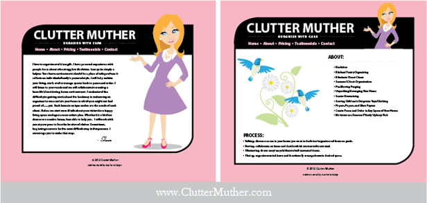 Clutter Muther Website Design