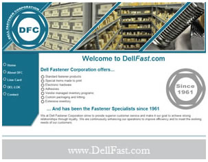 Dell Fasteners Website Design