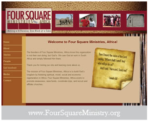 Four Square Ministry Website Design
