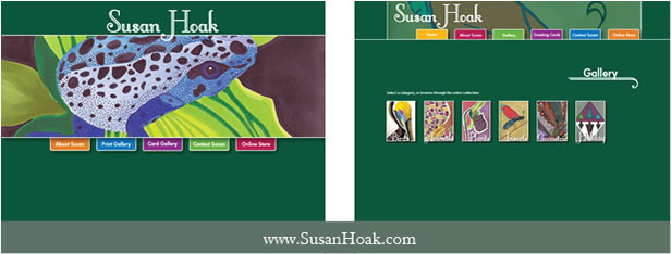 Susan Hoak Website Design