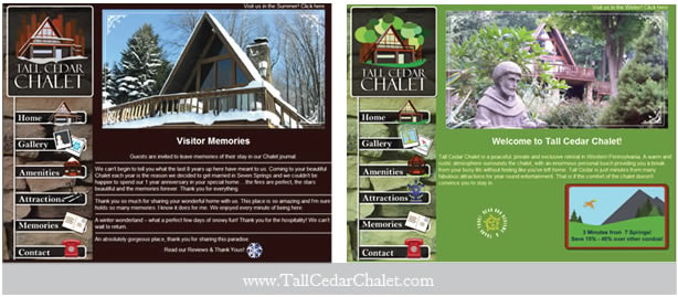 Tall Cedar Chalet Website Design