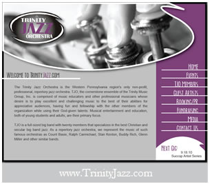 Trinity Jazz Website Design
